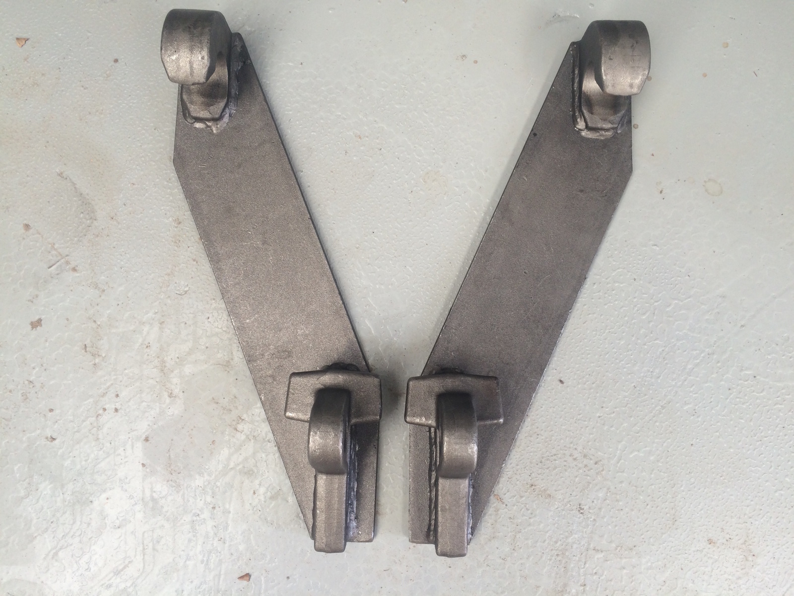 Euro hitch Weld on  attachment  mounting hooks